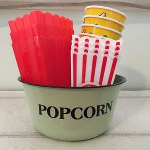 Set of 13 Popcorn bowl individual and Containers
